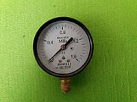 Манометр  от  0 - 1,6 МПа (16 атмосфер),Ø 63 мм