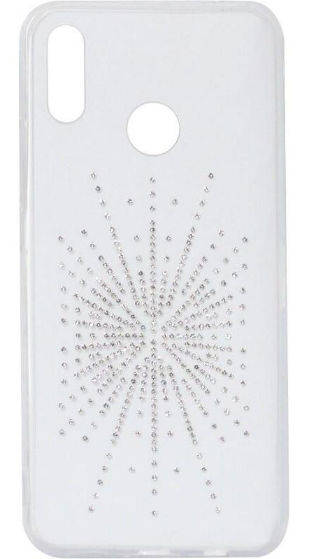 Силикон Huawei P20 Lite white Silver Shine