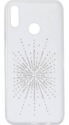 Силикон Huawei P20 Lite white Silver Shine, фото 2