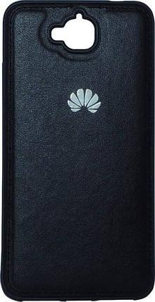 Накладка Huawei Y6Pro black TPU кожа, фото 2