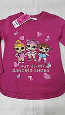 Модный реглан для девочек 92-98-104-110-116 роста Куклы LOL, фото 2