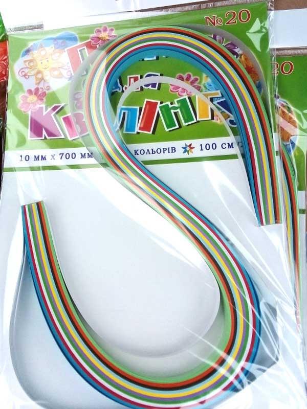 Бумага для квиллинга УП-108 10ммх70см, 100 полосок