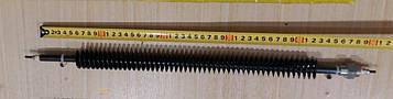 Тэн оребренный воздушный 1000W / 220V (ПРЯМОЙ) / Lдлина = 48см (со штуцером М18) Турция
