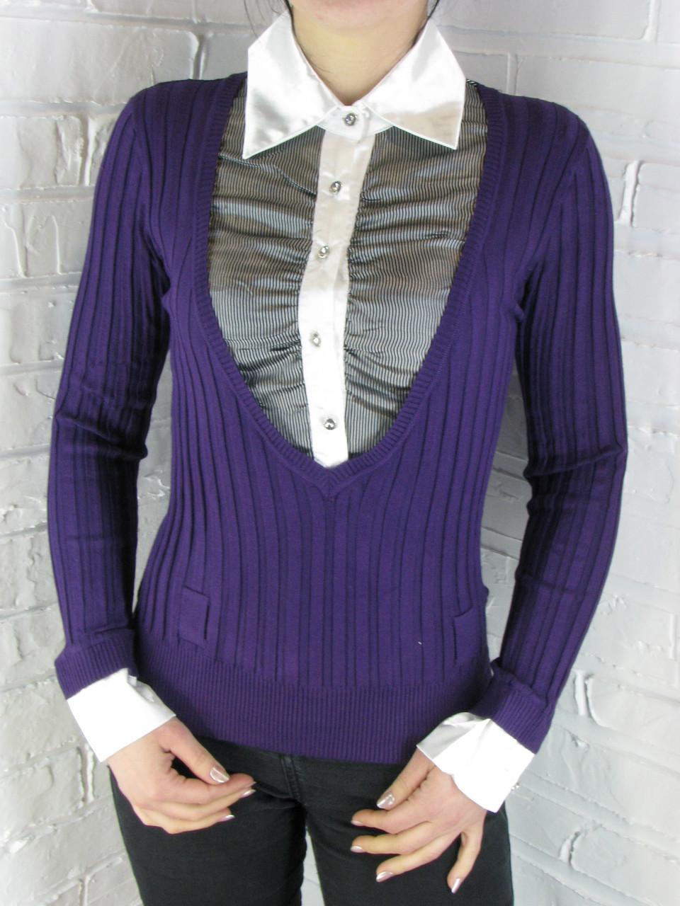 Джемпер с рубашкой 9788 ОПТ