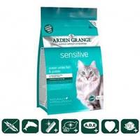 Arden Grange Корм для кошек с деликатным желудком и/или чувствительной кожей с океанической рыбой и картофелем беззерновой