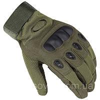 """Армейские тактические перчатки """"Oakley"""" полнопалые. Олива"""