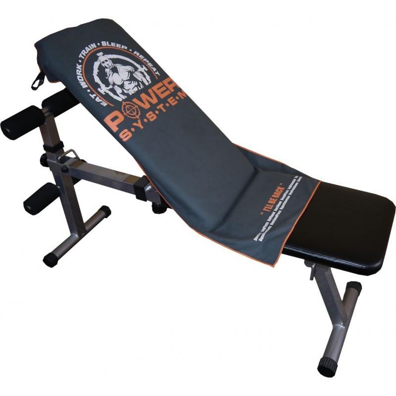 Фитнес-полотенце Power System Gym Bench Towel PS-7002 Grey (100*50)