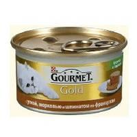 Gourmet Gold с уткой, морковью и шпинатом по-французски