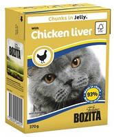 Влажный корм для котов Bozita мясные кусочки в желе с куринной печенью, 370 г