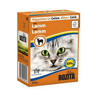 Влажный корм для котов Bozita мясные кусочки в желе с ягненком, 370 г