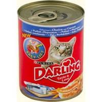Darling (Дарлинг) консервы для взрослых кошек c рыбой и морковкой