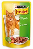 Friskies для кошек кусочки в подливе с кроликом, 100г
