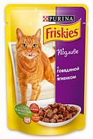 Friskies (Фрискис) С говядиной и ягненком в подливе 100г