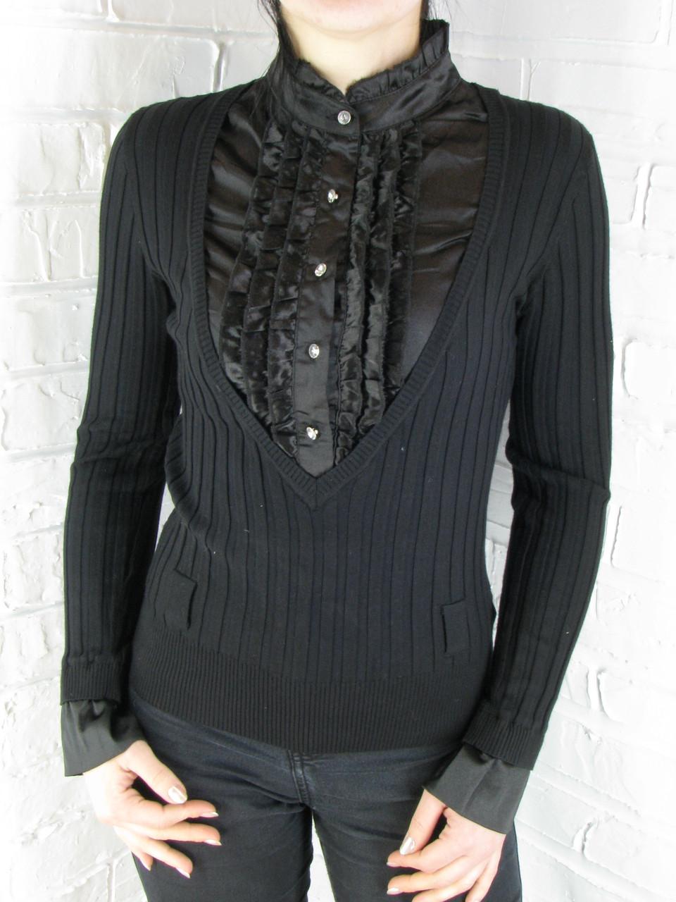Джемпер с рубашкой 9910 черный