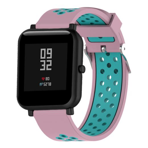 Ремешок Sport для Xiaomi AMAZFIT Bip / 20 мм Pink / Mint (Розовый / Мятный)