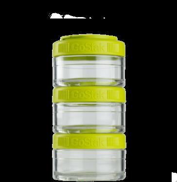 Контейнер спортивный BlenderBottle GoStak 3*60 Green (ORIGINAL)