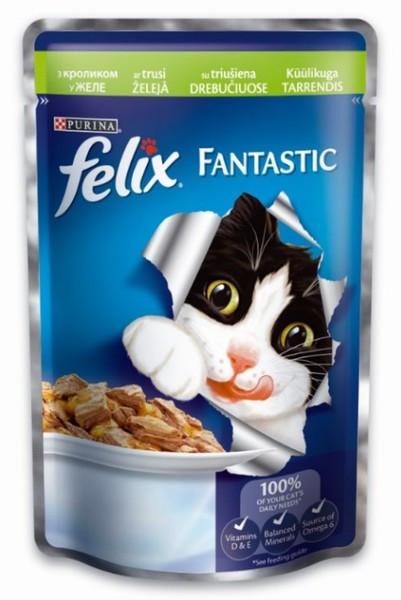 Felix Fantastic 100 гр кусочки с кроликом в желе
