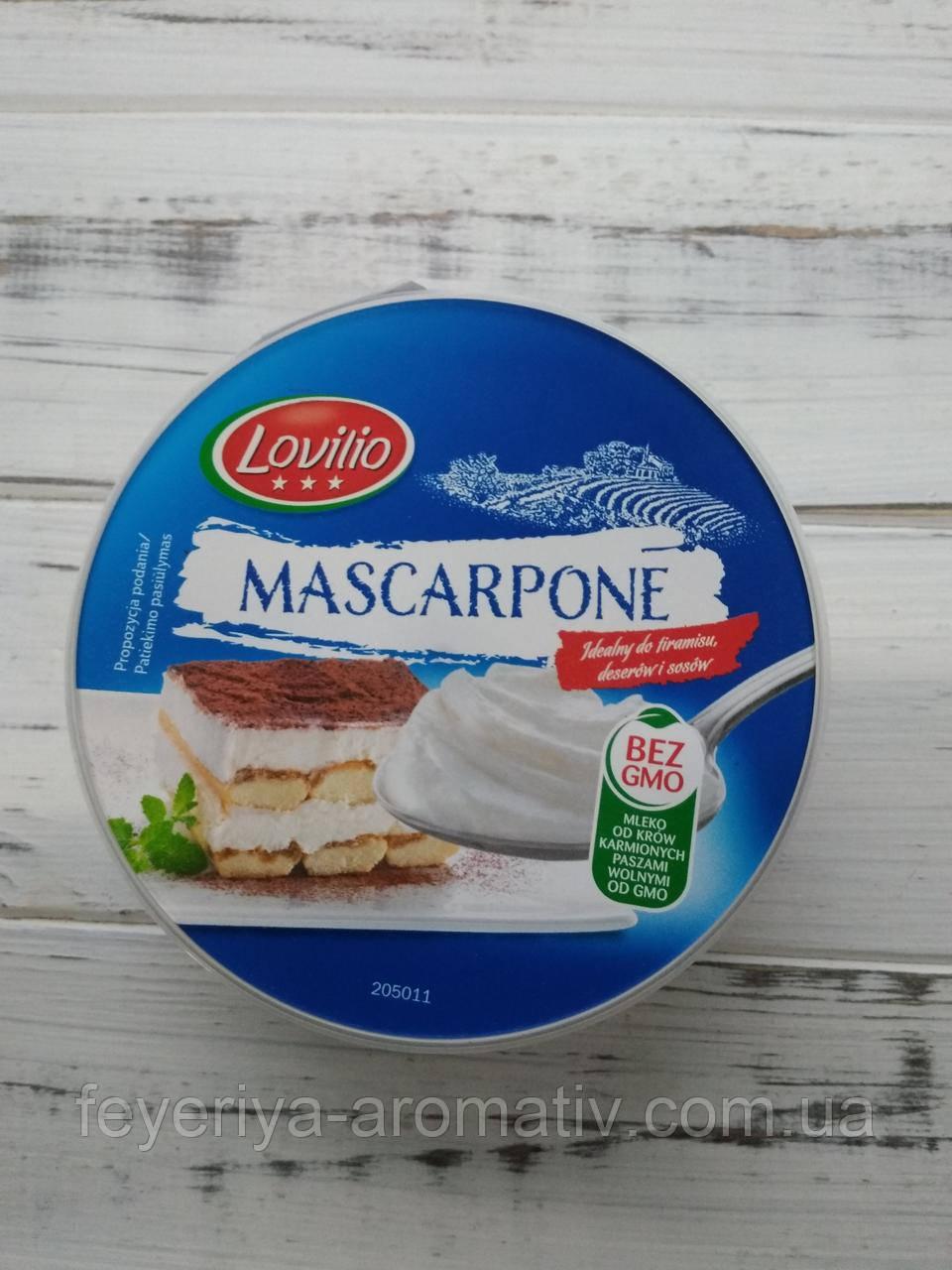 Сыр маскарпоне Lovilio Mascarpone, 250гр (Польша)