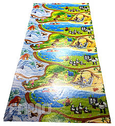 Детский игровой коврик для ползания ребенка «Happy Kinder» XXL 2500х1200x8 мм