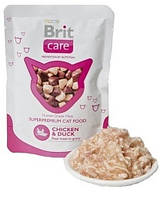 Brit Care Cat pouch курица и утка