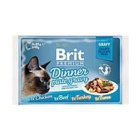 Brit Premium Cat pouch обеденная тарелка в соусе
