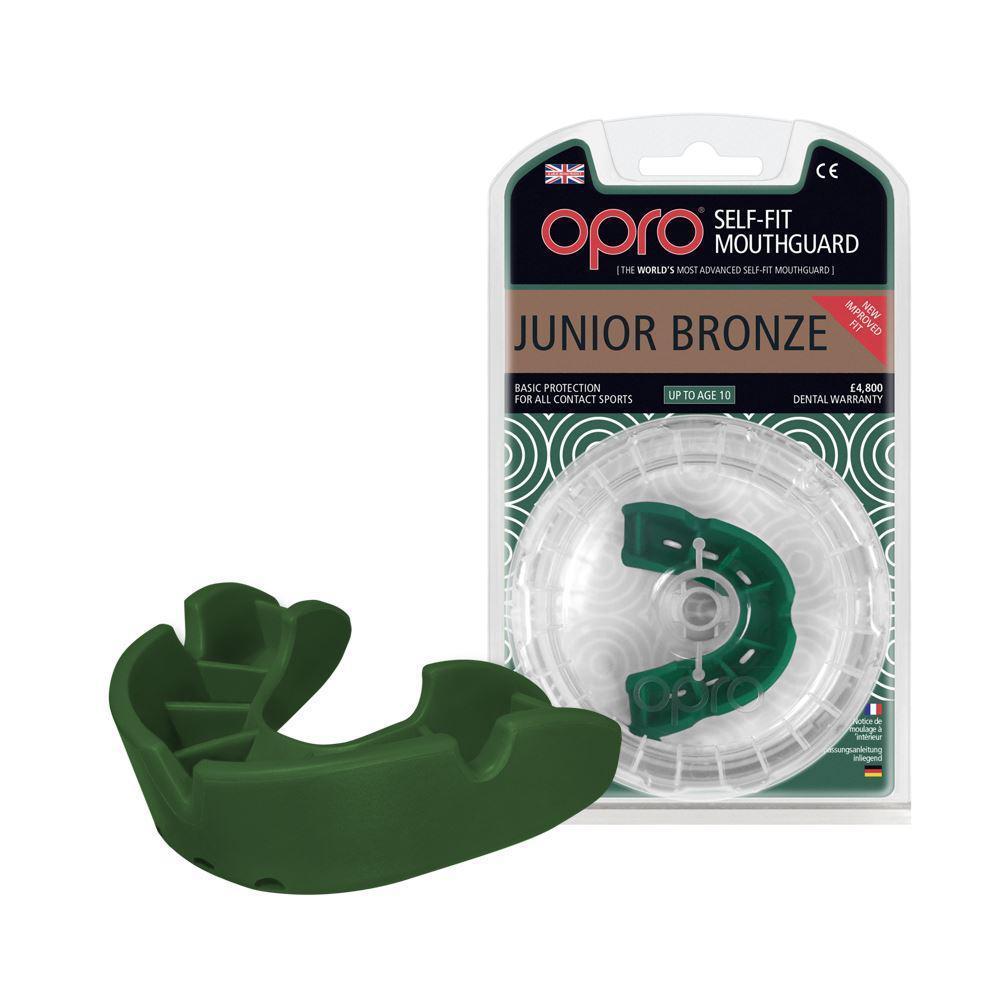 Капа OPRO Junior Bronze Green (art.002185003)