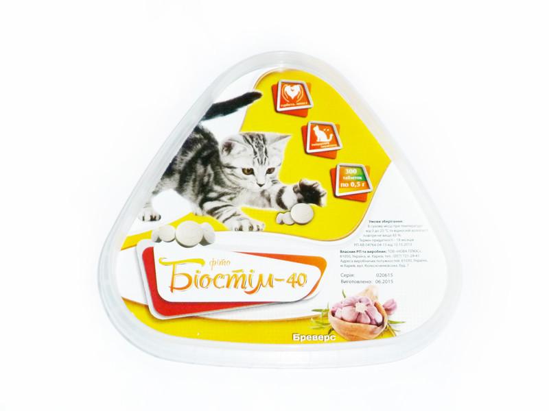 Биостим-40 Бреверс добавка с дрожжами и аминокислотами для кошек