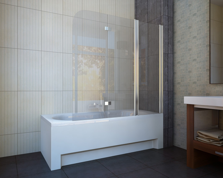 Шторка для ванны Koller Pool QP96 Clear правосторонняя
