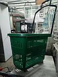 Торговые пластиковые корзинки 30 л. с выдвижной ручкой бу. корзины пластиковые б у., фото 5