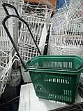 Торговые пластиковые корзинки 30 л. с выдвижной ручкой бу. корзины пластиковые б у., фото 4