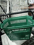 Торговые пластиковые корзинки 30 л. с выдвижной ручкой бу. корзины пластиковые б у., фото 3