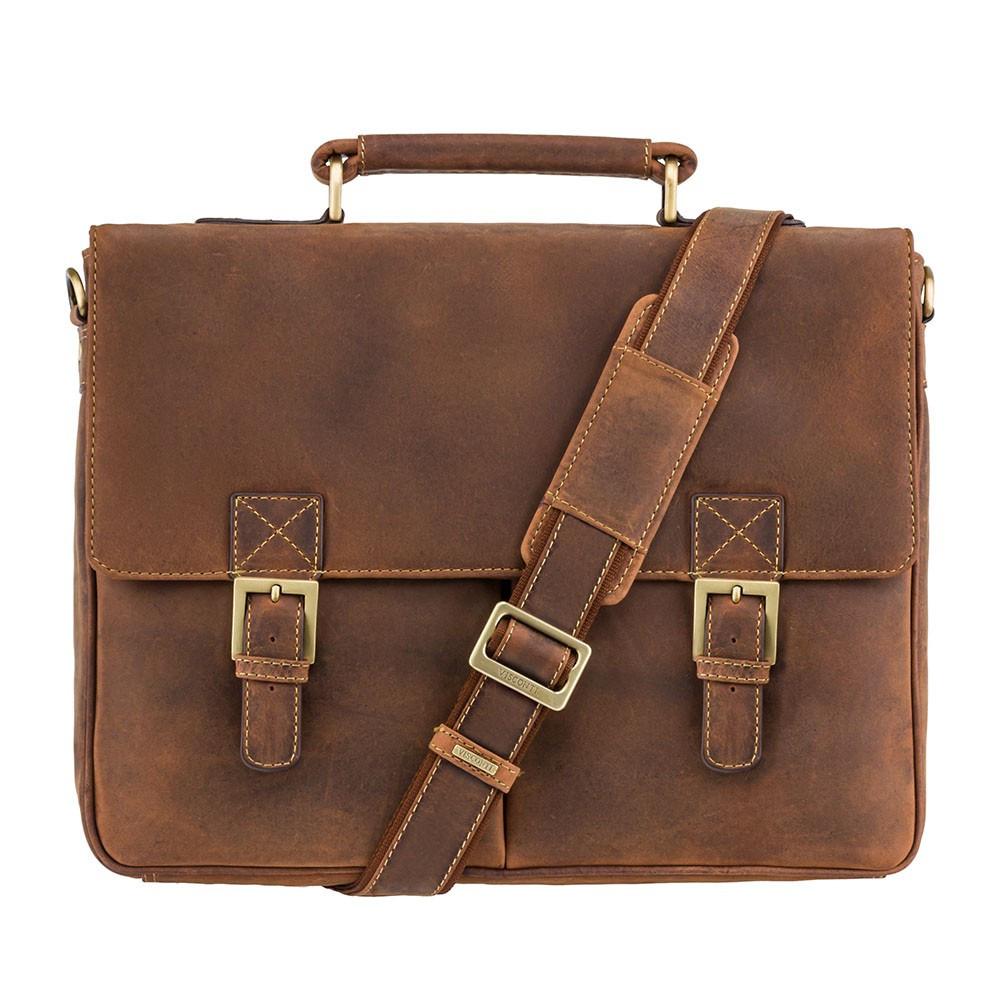 Винтажный мужской портфель Visconti 18716 Oil tan (Великобритания)