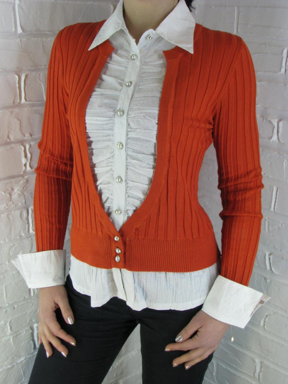 Джемпер с рубашкой 9021 А ассорти