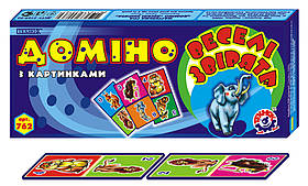 Домино Детское Веселые зверята 762 Технокомп
