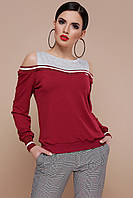Жіноча модна кофта з вирізами на плечах