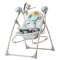Кресло-качалка светло-зеленая питание от сети и батареек CARRELLO Nanny CRL-0005