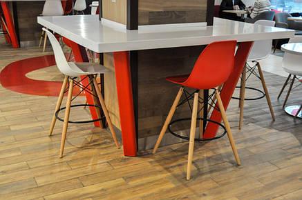 Красный барный стул пластиковый мега стильный Nik Bar для баров, кафе, ресторанов, стильных квартир, фото 2
