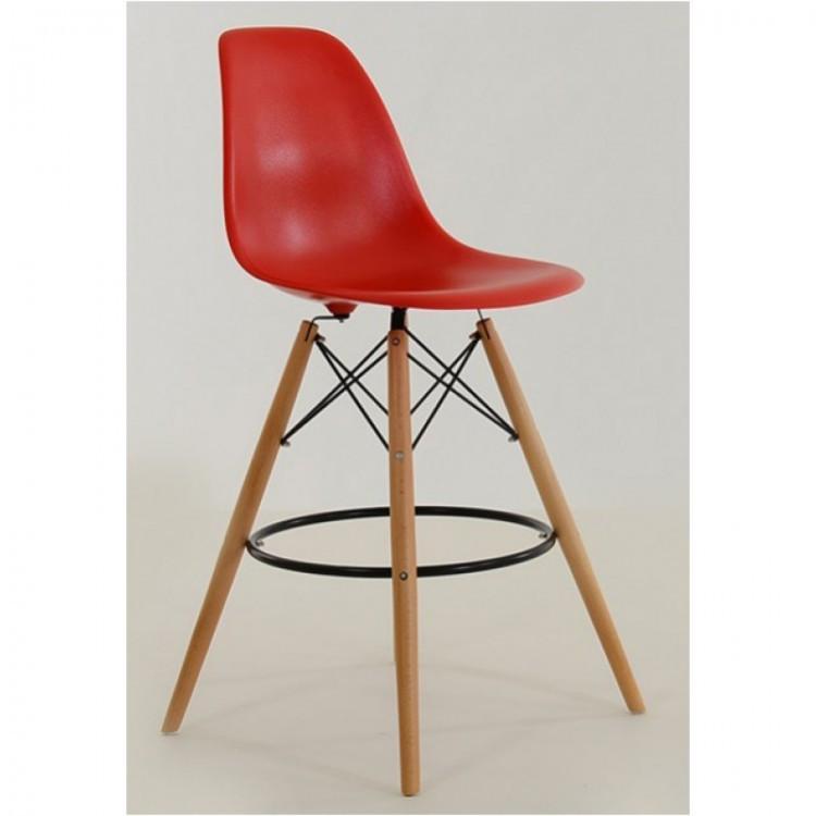 Красный барный стул пластиковый мега стильный Nik Bar для баров, кафе, ресторанов, стильных квартир