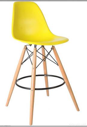 Желтый барный стул пластиковый мега стильный Nik Bar для баров, кафе, ресторанов, стильных квартир, фото 2