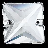 Пришивные хрустальные квадраты Preciosa (Чехия) 16х16 мм Crystal