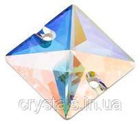 Пришивные хрустальные квадраты Preciosa (Чехия) 16х16 мм Crystal АВ 2-й сорт