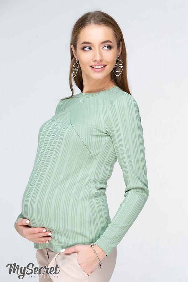Лонгслив для беременных и кормящих STEFANIA NR-19.032 светло-зеленый
