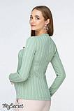 Лонгслив для беременных и кормящих STEFANIA NR-19.032 светло-зеленый, фото 4