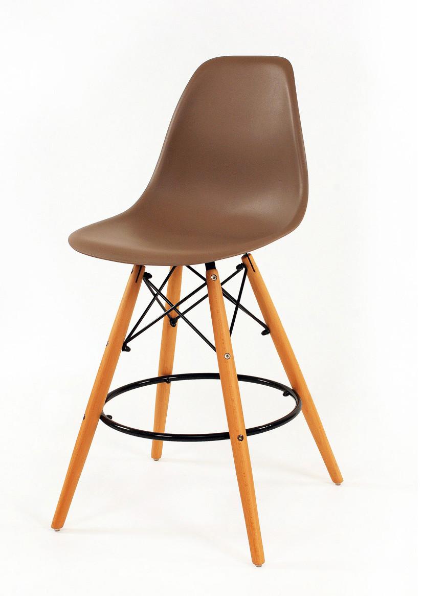 Барный стул пластиковый мега стильный серый Nik Bar для баров, кафе, ресторанов, стильных квартир