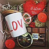 """Подарочный бокс коробка """"I love you"""" с чашкой для парня, девушки"""