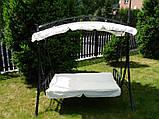 Садова качеля розкладна МАЯМІ, 3 місна, фото 2