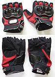 Спортивные беспалые перчатки «BIKER» с кастетными вставками., фото 3