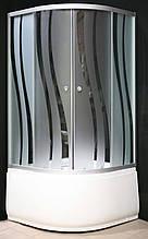 7125-6 (90х90см). Душевая кабина KO&PO с глубоким поддоном (13,5см), стекло с декором