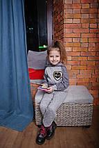 Серый спортивный костюм для ребенка с капюшоном Топ 2019, фото 2