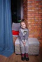 Серый спортивный костюм для ребенка с капюшоном Топ 2019, фото 3